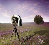 De camera van fotografen Stock Afbeeldingen