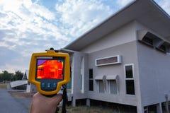 De camera van het Thermoscanthermalbeeld, Industrieel die materiaal voor het controleren van de interne temperatuur van de machin royalty-vrije stock foto