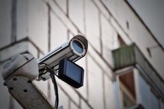 De camera van het toezicht Stock Afbeeldingen