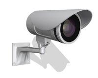 De camera van het toezicht op witte achtergrond Stock Afbeeldingen