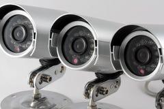 De Camera van het Toezicht van kabeltelevisie Royalty-vrije Stock Afbeeldingen