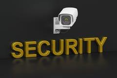 De camera van het veiligheidstoezicht, veiligheidsconcept het 3d teruggeven Royalty-vrije Stock Afbeelding