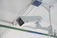 De camera van kabeltelevisie in de bureaubouw Royalty-vrije Stock Foto