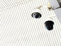 De camera van kabeltelevisie in de bureaubouw Royalty-vrije Stock Foto's