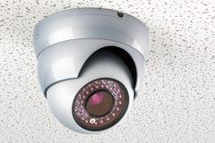 De camera van de koepelveiligheid op het plafond, het 3D teruggeven Stock Foto's