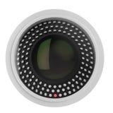 De Camera van de veiligheid die op wit wordt geïsoleerdn Royalty-vrije Stock Foto