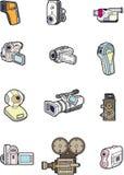 De cameraelement van de krabbel Royalty-vrije Stock Fotografie