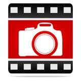 De camerapictogram van de foto Stock Foto's