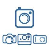 De camerapictogrammen van de Hipstersfoto Stock Afbeelding