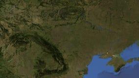 De cameraritten op het Krimschiereiland op de aardebol, het 3d teruggeven, worden de elementen van dit beeld geleverd door NASA,  stock illustratie