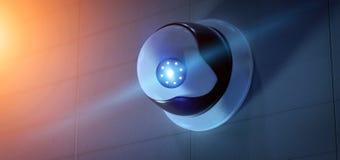 De camerasysteem van veiligheidskabeltelevisie - het 3d teruggeven Royalty-vrije Stock Foto