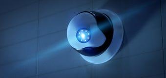 De camerasysteem van veiligheidskabeltelevisie - het 3d teruggeven Stock Afbeeldingen