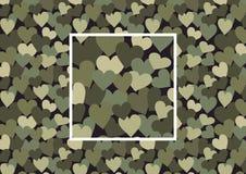 De camouflage van het hart stock illustratie