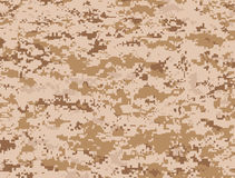 De camouflage van woestijnpixel stock illustratie