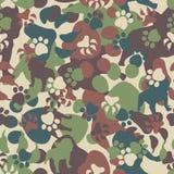 De camouflagepatroon van de hond stock illustratie