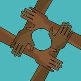 De campagne de liberté de main anti raciste ensemble Photographie stock