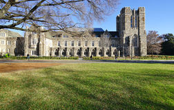 De campus van Duke University in Durham, Noord-Carolina royalty-vrije stock afbeeldingen