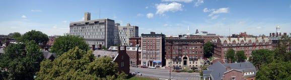 De campus van Harvard Stock Afbeelding