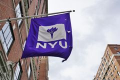 De campus van New York Universitaire NYU in Manhattan Stock Foto