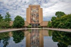 De campus van Notre Dame stock fotografie
