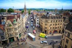 De campus van Oxford, Engeland Stock Foto's