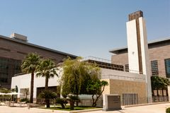 De campusmoskee van de Koning Abdullah University van Wetenschap en Technologie, Thuwal, Saudi-Arabië stock afbeelding