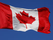 De Canadese Close-up van de Vlag Royalty-vrije Stock Afbeelding