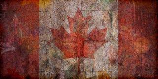 De Canadese Vlag van Grunge Stock Foto's