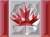 De Canadese vlag van het metaal vector illustratie
