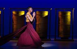 ` De Cangyangjiacuo de Darai-The del drama joven de la danza `` Foto de archivo libre de regalías