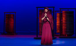 ` De Cangyangjiacuo de drame de danse de roue-Le de prière `` Images libres de droits