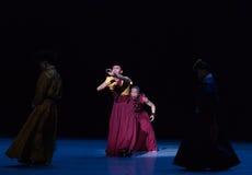 ` De Cangyangjiacuo del drama de la danza de Lama Road-The `` Fotografía de archivo libre de regalías