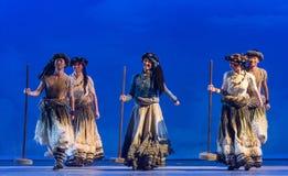 ` De Cangyangjiacuo del drama de la danza de los creyentes- de Tíbet `` Foto de archivo libre de regalías