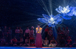 ` De Cangyangjiacuo du drame de danse `` Image libre de droits