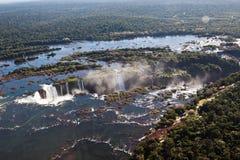 De Canion Argentinië en Brazilië van de Dalingen van Iguassu Royalty-vrije Stock Foto's