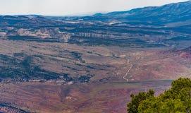 De canion overziet Dinosaurus Nationaal Monument stock afbeeldingen