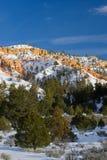 De Canion van Bryce in de winter Stock Afbeeldingen