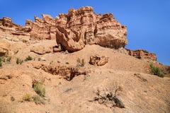 De Canion van Charyn in Kazachstan Stock Afbeeldingen