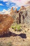 De Canion van Charyn in Kazachstan Stock Afbeelding