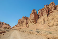 De Canion van Charyn in Kazachstan De Vallei van Kastelen Royalty-vrije Stock Afbeelding