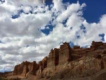 De Canion van Charyn in Kazachstan stock foto's