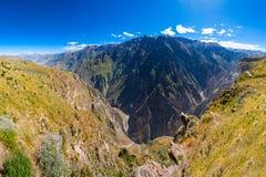 De canion van Colca, Peru royalty-vrije stock afbeelding