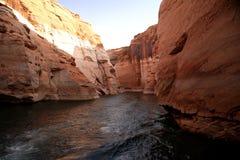 De Canion van de nauwe vallei, Meer Powell stock afbeeldingen
