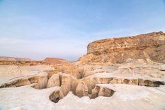 De canion van de sterrenvallei op Qeshm-eiland, Iran stock foto's