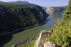 De canion van Donau Stock Fotografie