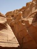 De canion van het kalksteen in Sinai Schiereiland Stock Afbeelding
