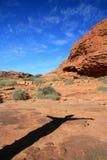 De Canion van koningen, Watarrka Nationaal Park, Australië royalty-vrije stock fotografie
