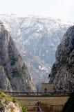 De Canion van Matka, dichtbij Skopje, Macedonië royalty-vrije stock fotografie