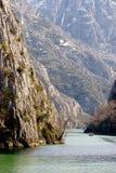 De Canion van Matka, dichtbij Skopje, Macedonië stock fotografie