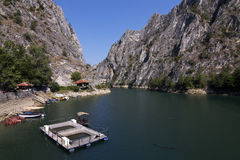 De canion van Matka - Macedonië Stock Foto